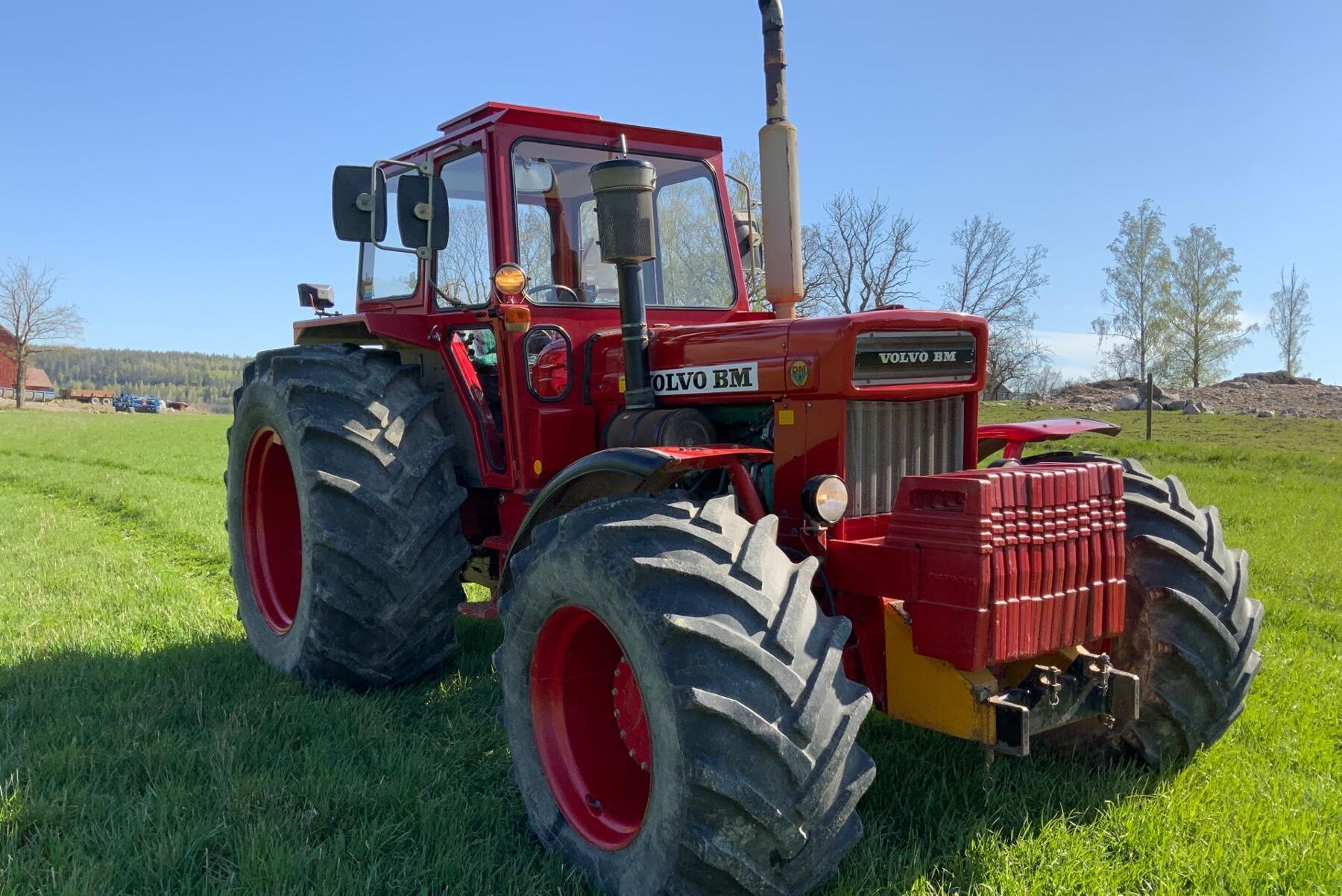 Traktorn som är från 1979 är i nästan 100 procent originalskick vilket många ser som en fördel.