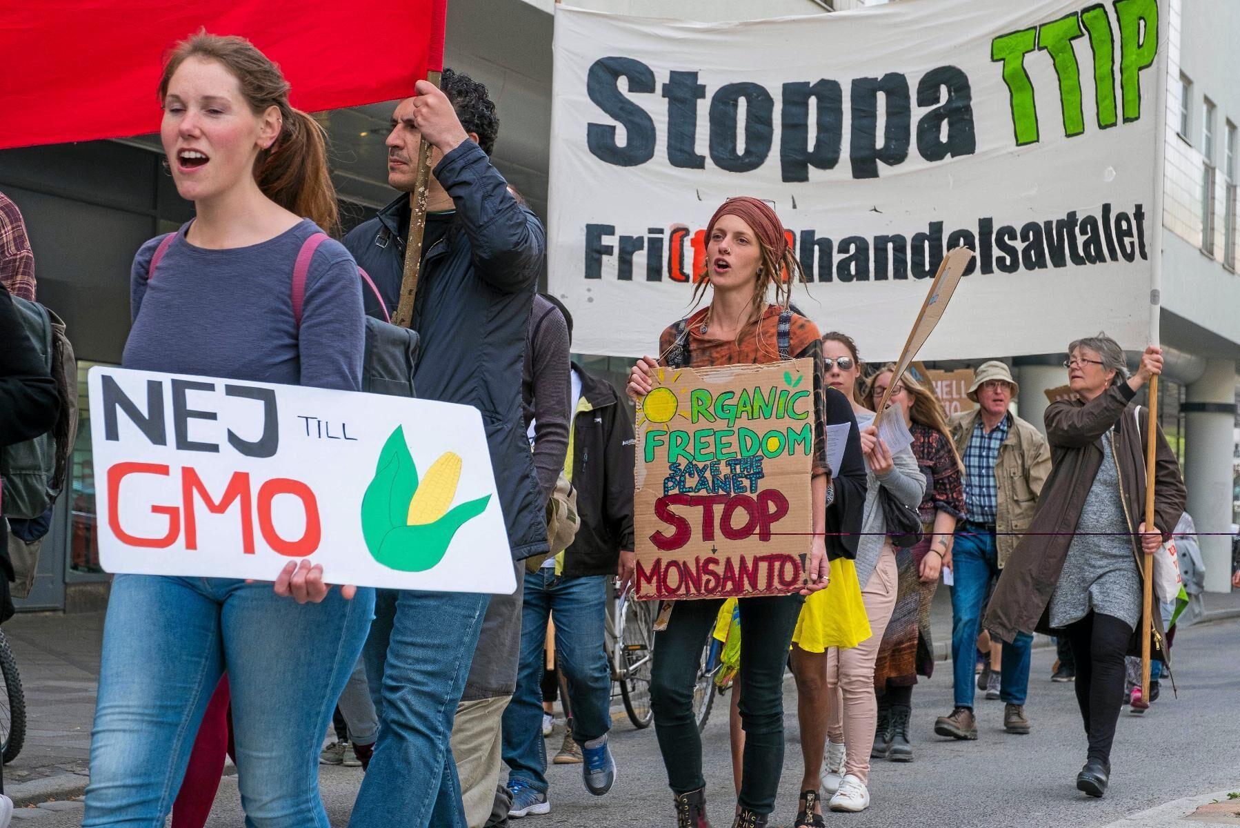 Marsch mot Monsanto i Malmö 21 maj 2016. Bolagets ägare Bayer uppges ha upprättat en lista med influerare som skulle påverkas till en positiv uppfattning om bekämpningsmedlet Roundup.