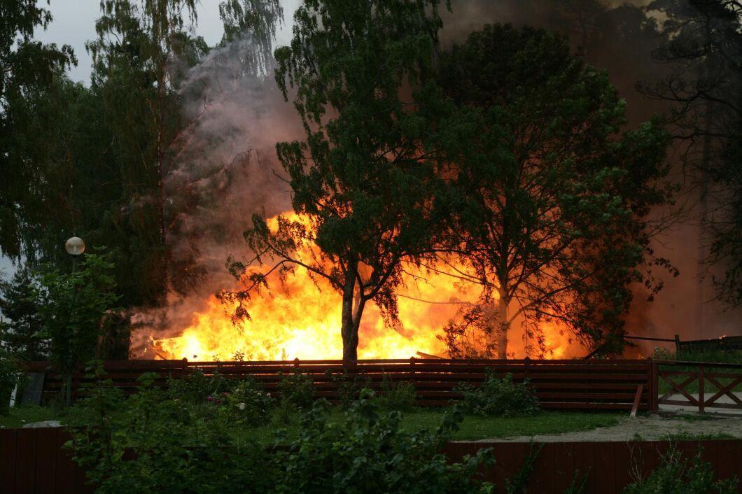 I måndags utbröt en skogsbrand i Skinnskatteberg. Arkivbild.
