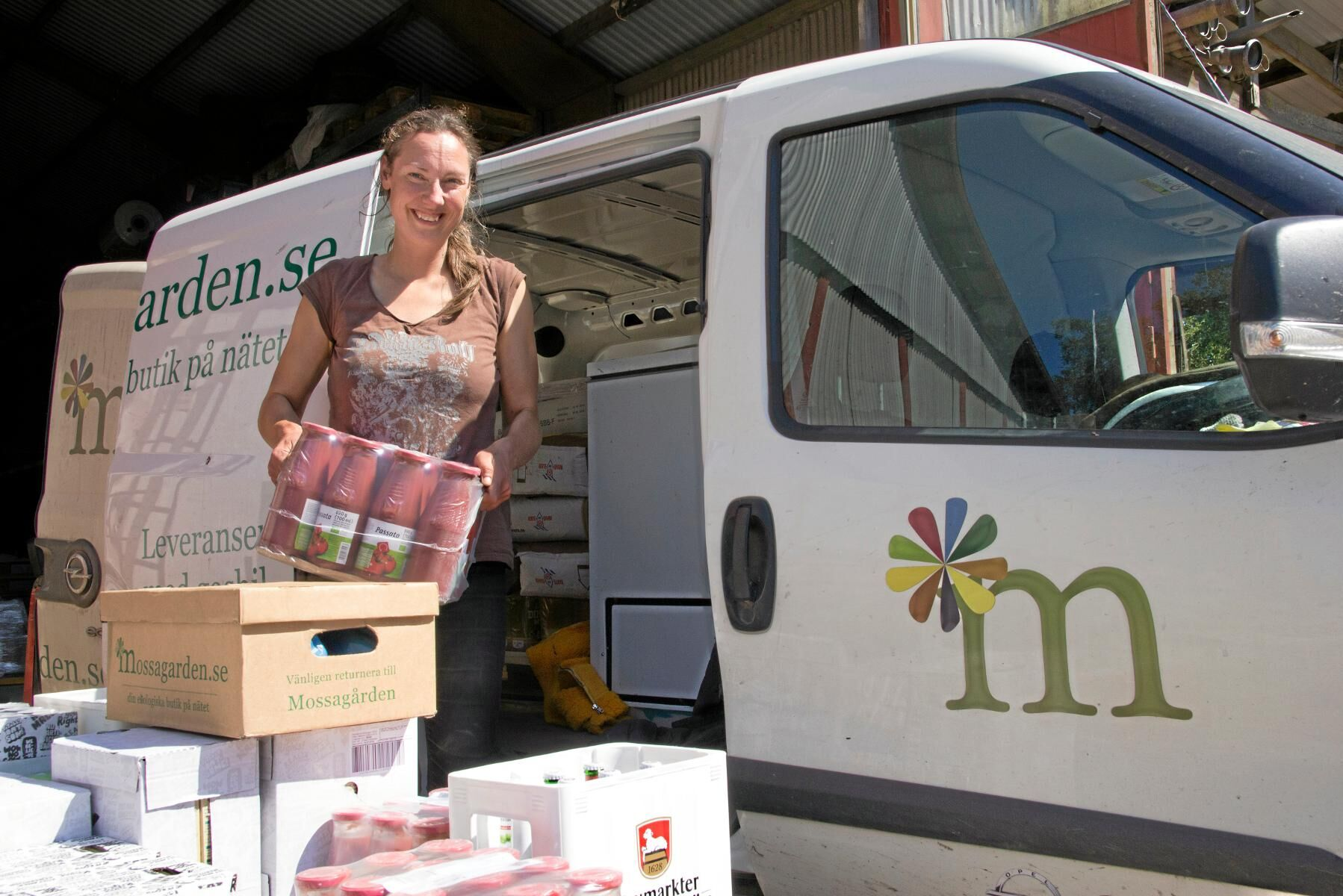 Ekolantbrukaren Ebba-Maria Olson hoppas att många lantbrukare kommer till festivalen.