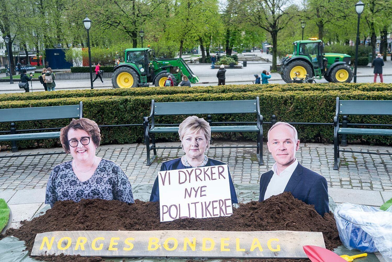 Alla norska politiker står inte så högt i kurs hos landets jordbrukare just nu.