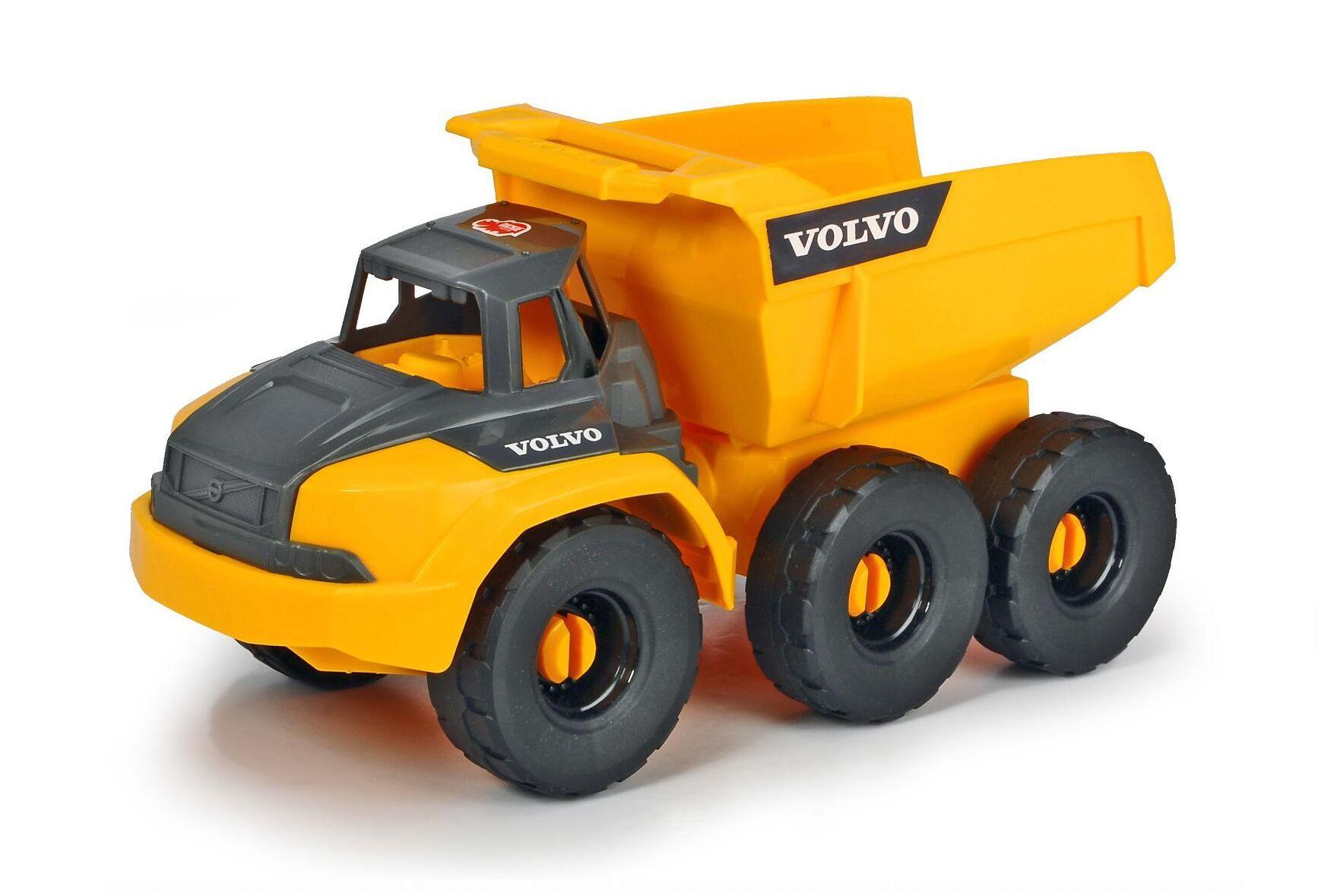 Garanterat fossilfri drivkälla är det på Volvo CE:s dumprar som leksakstillverkaren Dickie Toys producerat.