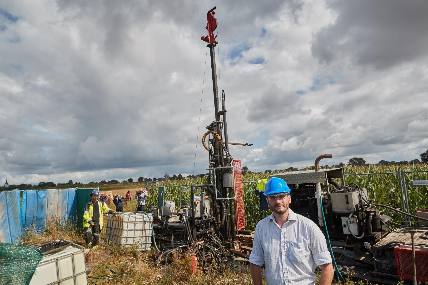 David Minchin, vd Scandivanadium under en pressträff när provborrningen av metallen vanadin skulle påbörjas utanför Hörby.