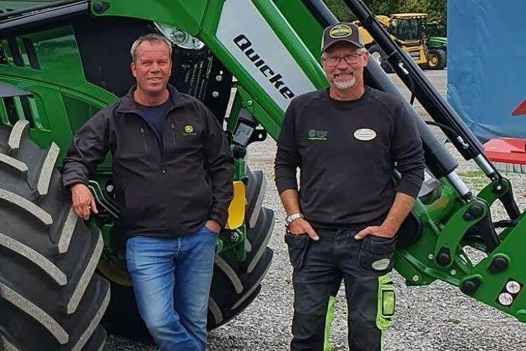 John Glifberg och Torbjörn Kotz odlar spannmål på Gotland i det gemensamma bolaget LB Spannmål.