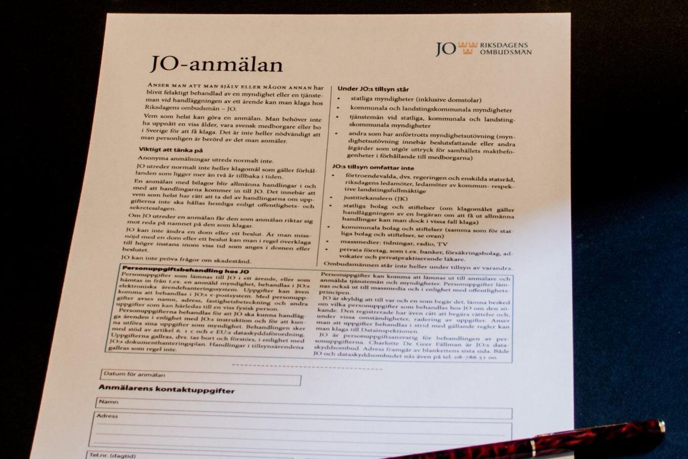 Länsstyrelsen i Gävleborg har i dagsläget blivit anmäld 27 gånger till JO men den siffran förväntas bli högre. Arkivbild.