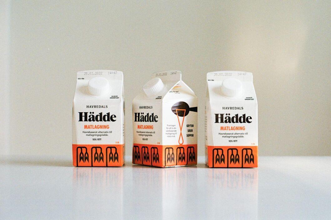 """Havredals lanserar en havrebaserad """"grädde"""" – Hädde."""