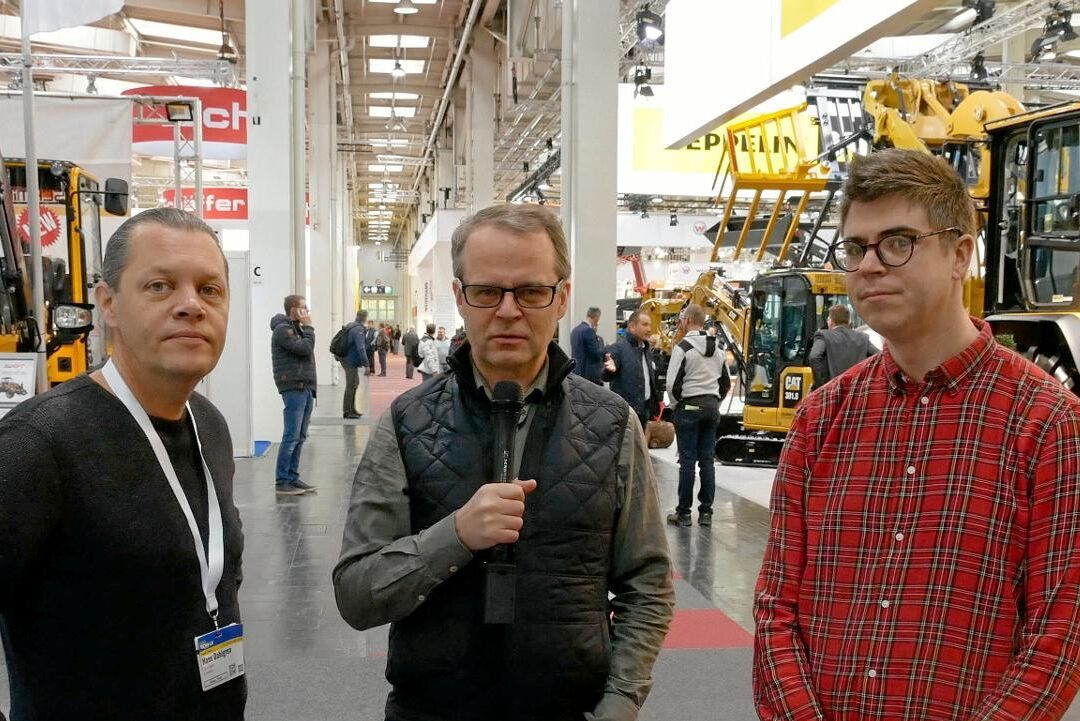 ATL:s reportrar på plats på Agritechnica 2019. Hans Dahlgren, David Larsson och Fredrik Stork.
