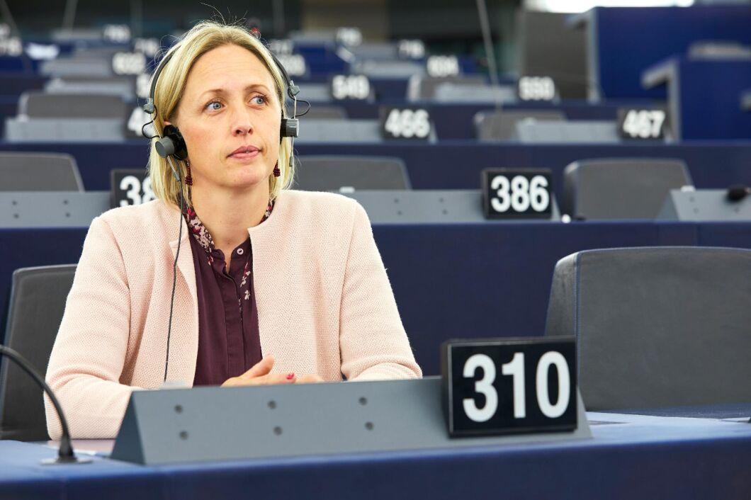 Jytte Guteland, socialdemokratisk EU-parlamentariker, är en av dem som förhandlat fram uppgörelsen om klimatmål för EU till 2030 och framåt. Arkivbild.