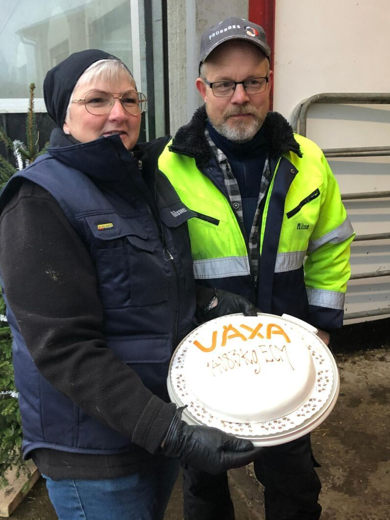 I december 2020 blev det tårta från Växa Sverige för att ha nått målet 14000 kilo ECM.