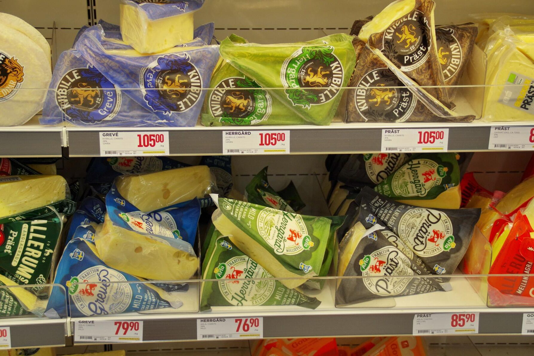 I nuläget har Svensk Mjölk licensavtal för tillverkning av de aktuella ostarna med Arla, Skånemejerier, Falköpings mejerier och Norrmejerier.