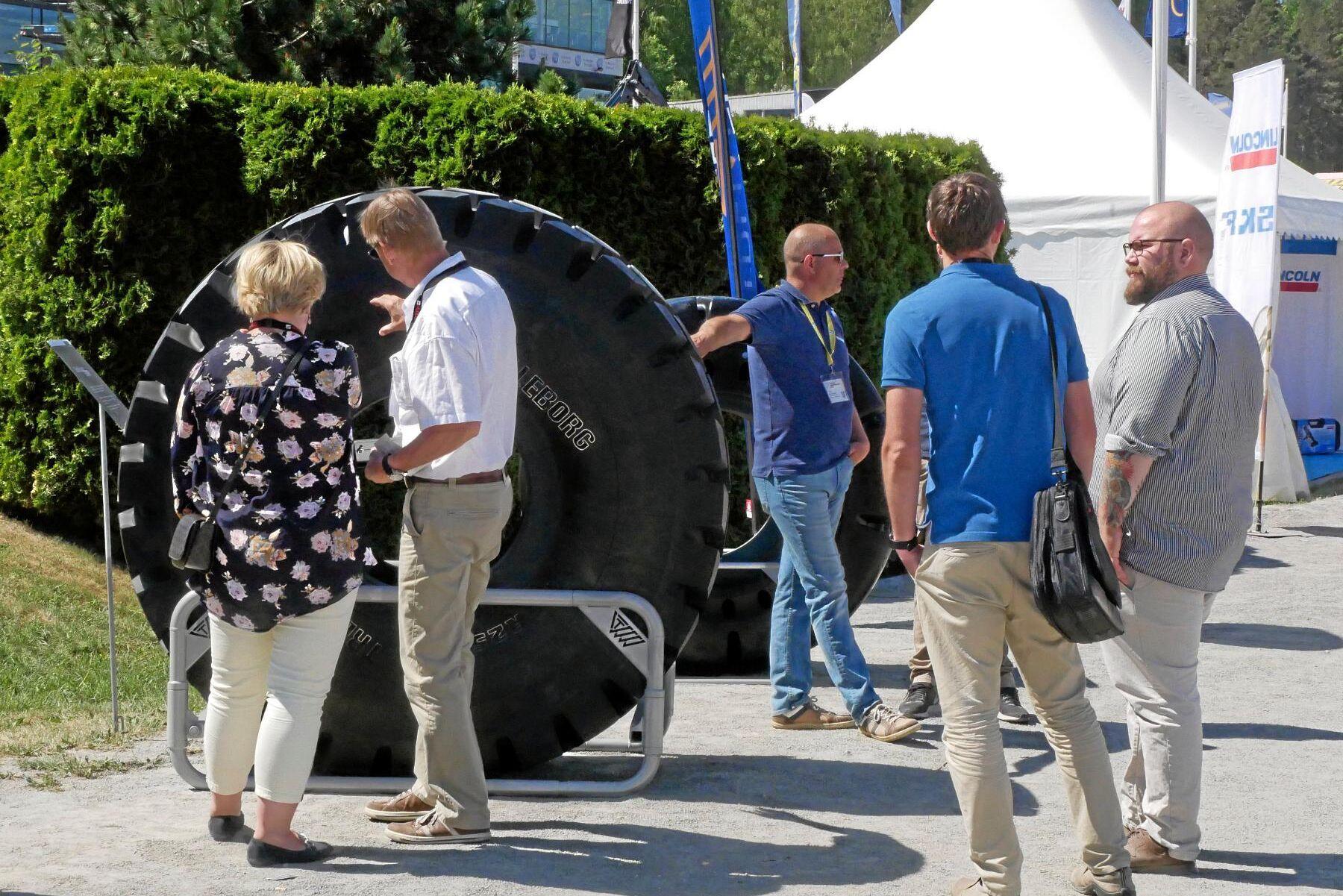 Att klämma på däck var populärt.