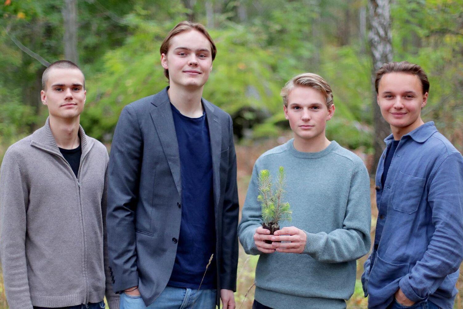 Från vänster till höger: Ludvig Ternberg, Fredrik Ramel, Carl Båge, Andreas Melander.