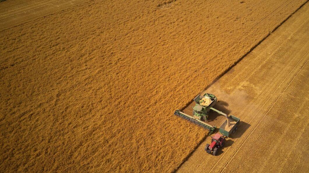 I de allra sydligaste delarna av Skåne börjar en del lantbrukare bli färdiga med skörden.
