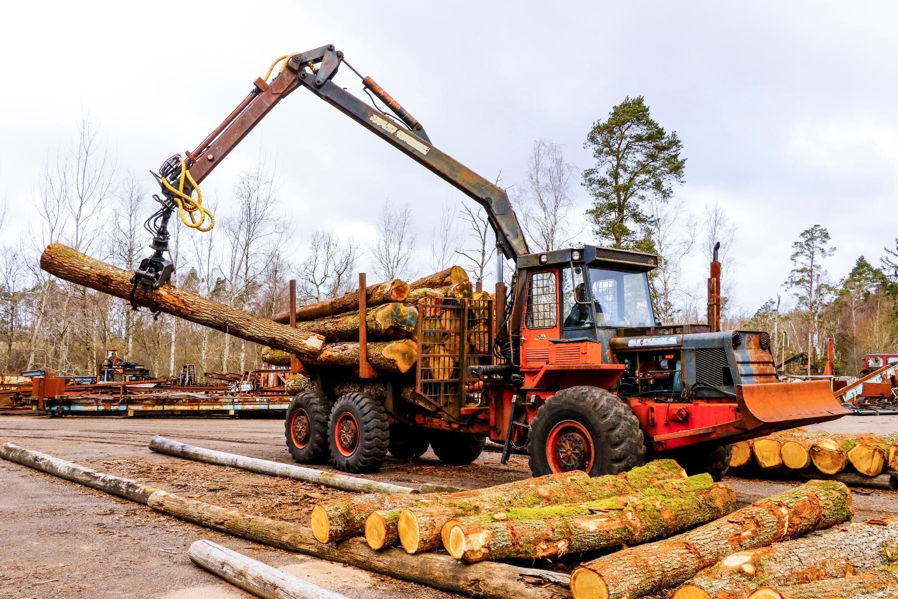 Klassiker. SMV21S gör jobbet på Lars Höjrups sågverk utanför Munka-Ljungby.