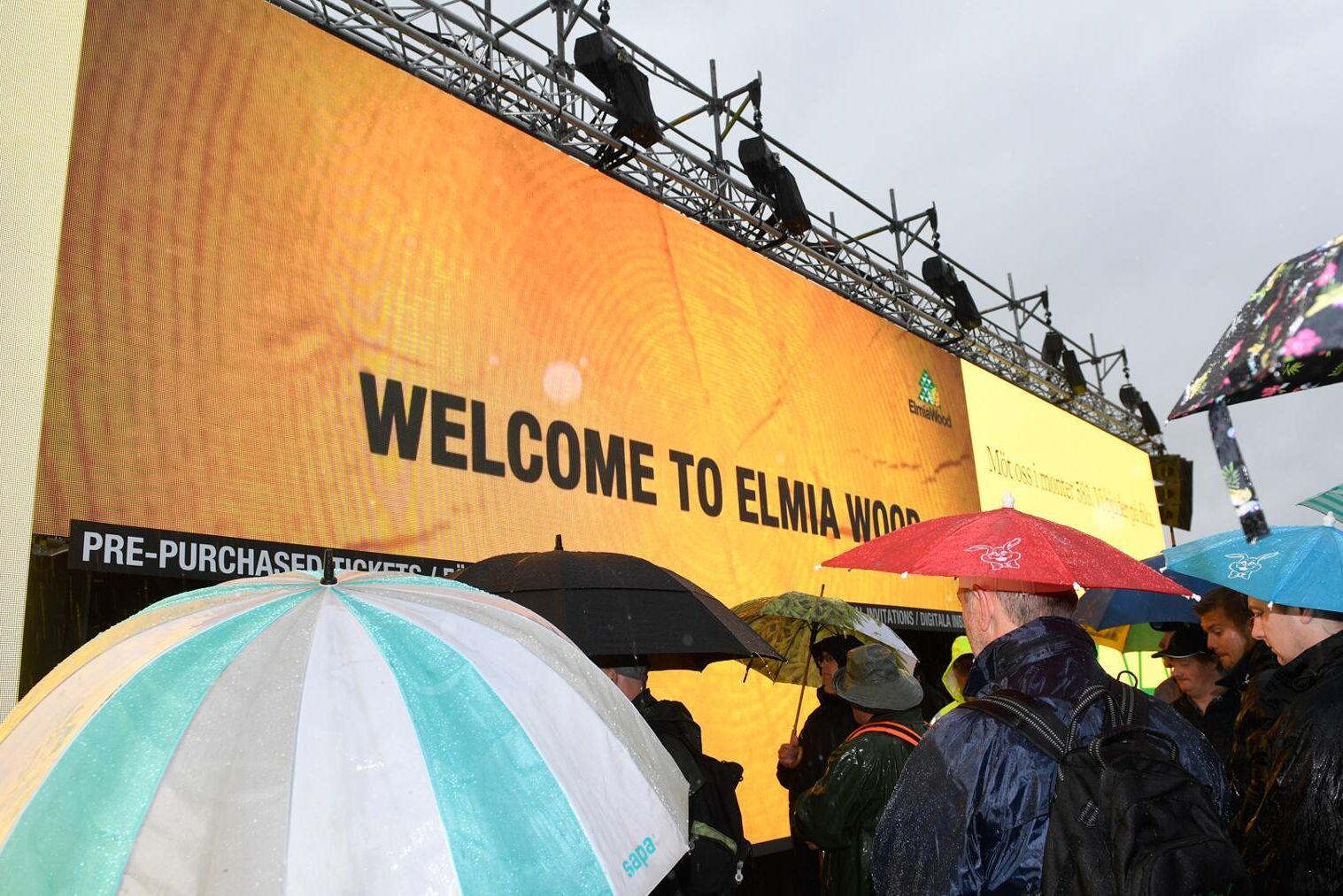 Elmia 2017 hade otur med vädret och hade regn under större delen av mässans dagar.