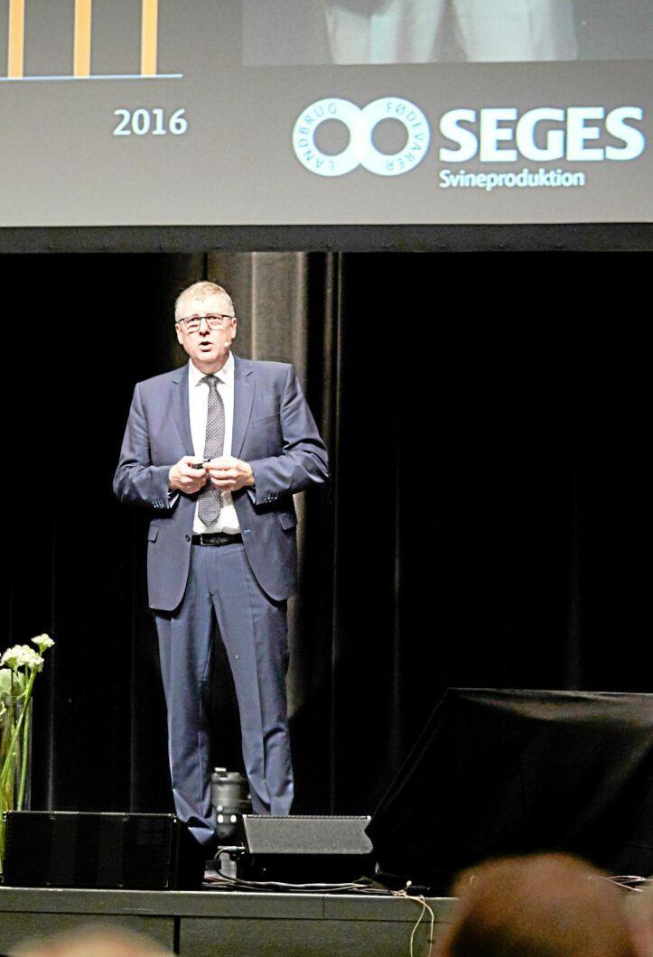 Erik Larsen, ordförande för Landbrug og Fødevarer Svineproduktion.