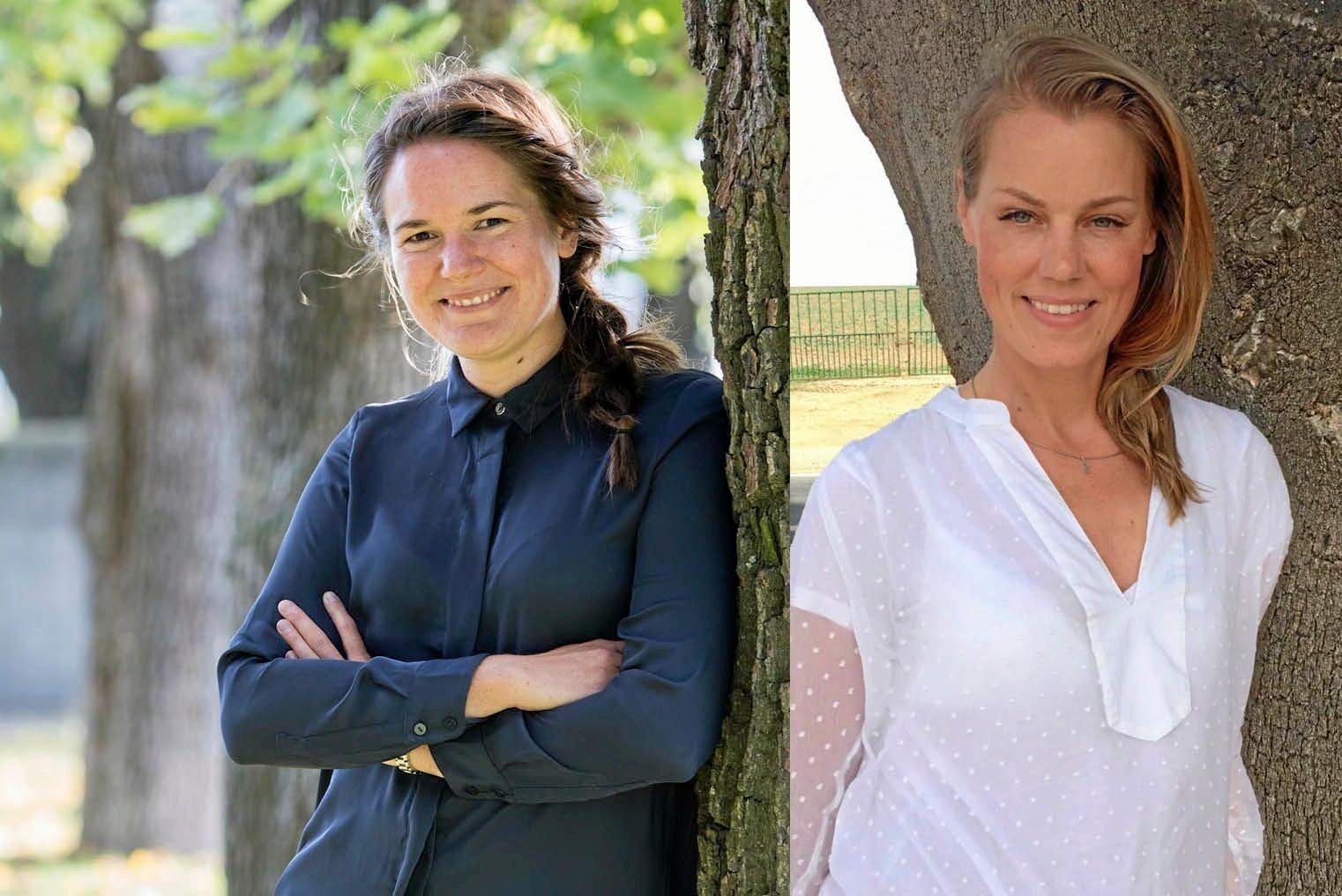 Elin Olofsson och Anna Schyman är initiativtagare till Nätverket för yrkesverksamma kvinnor i skogsbranschen, Nyks.