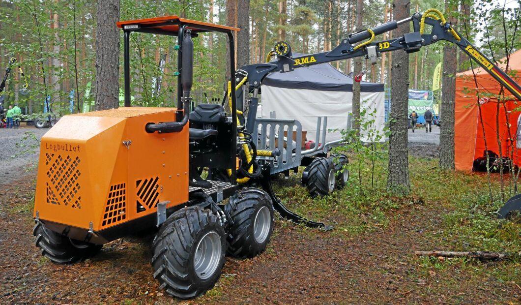 Miniskotaren Logbullet premiärvisades på FinnMetko för två år sedan. Nu är 19 maskiner sålda.