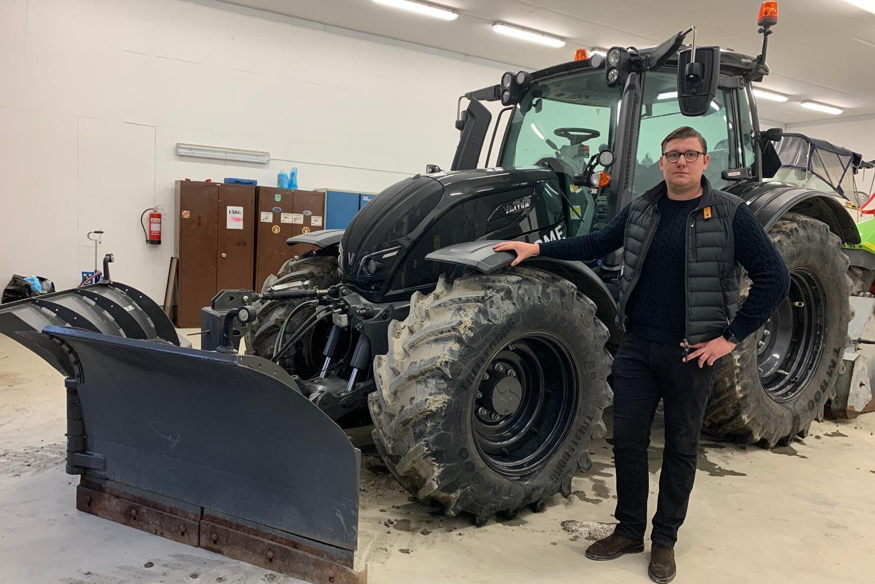 Jakob Öberg, mellan Enköping och Uppsala, har kört en Valtra som går på hundra procent RME.