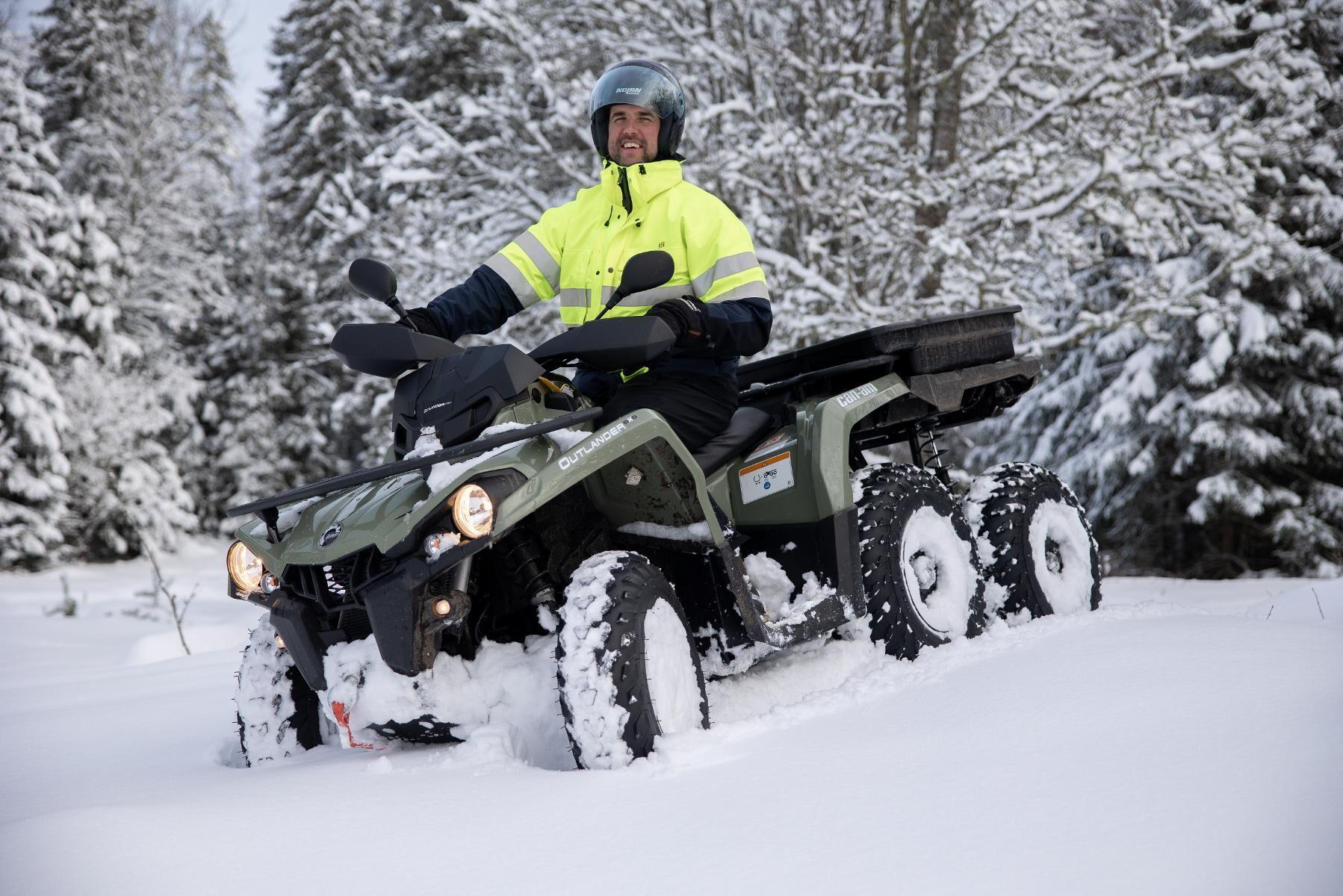 ATL:s fyrhjulingsexpert Per Johansson har provkört en sexhjuling från Can-am.