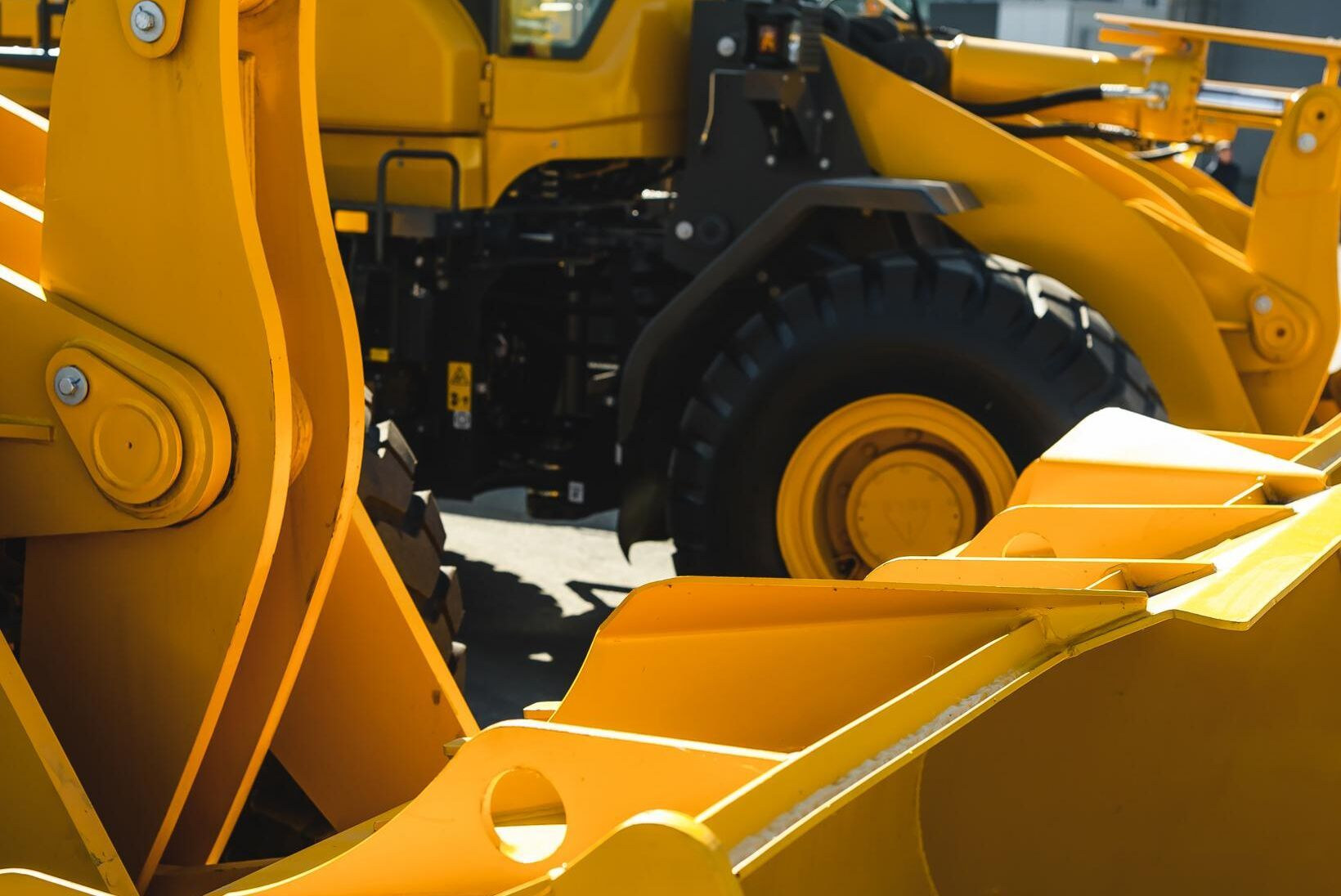 Två gånger på två dagar stals Filipstads specialmaskiners hjullastare. (Arkivbild, ej maskinen som artikeln handlar om.)