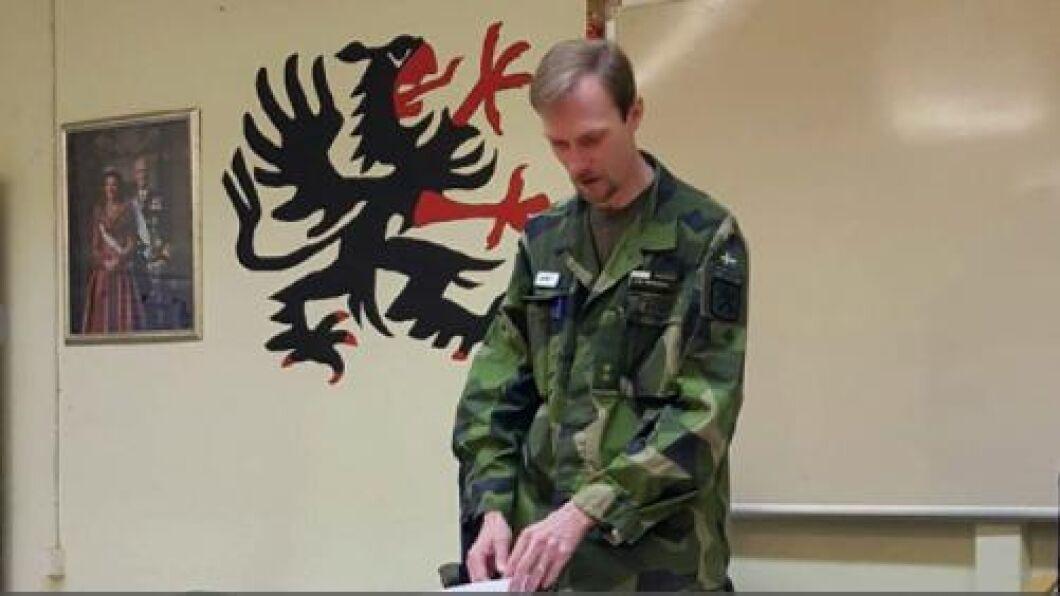 Joel Rehnholm, militär insatschef på Livkompaniet.