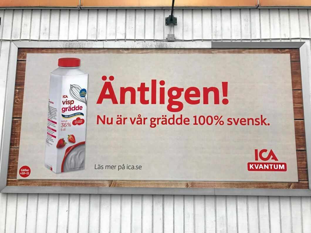 """""""90 procent av de vita mejerivarorna har svensk råvara"""" säger Ica:s råvaruchef Dan Jacobson."""