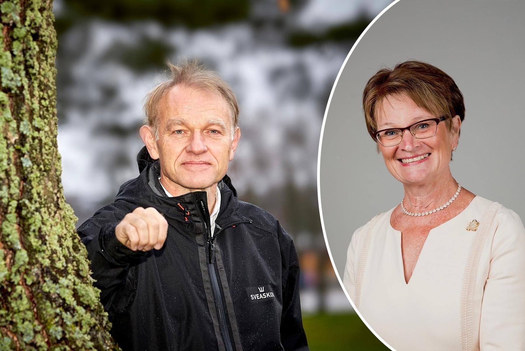 Olof Johansson, Sveaskog, och Ewa Andersen, Sparbankernas riksförbund, är båda kritiska till EU-kommissionens förslag på hållbarhetskriterier.