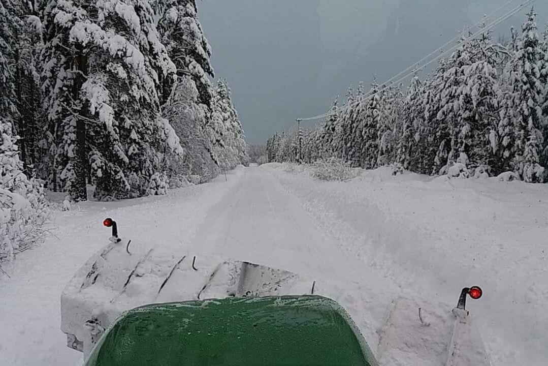 I Gästrikland är det 80 cm snö i skogarna, enligt Niklas Hedblom.