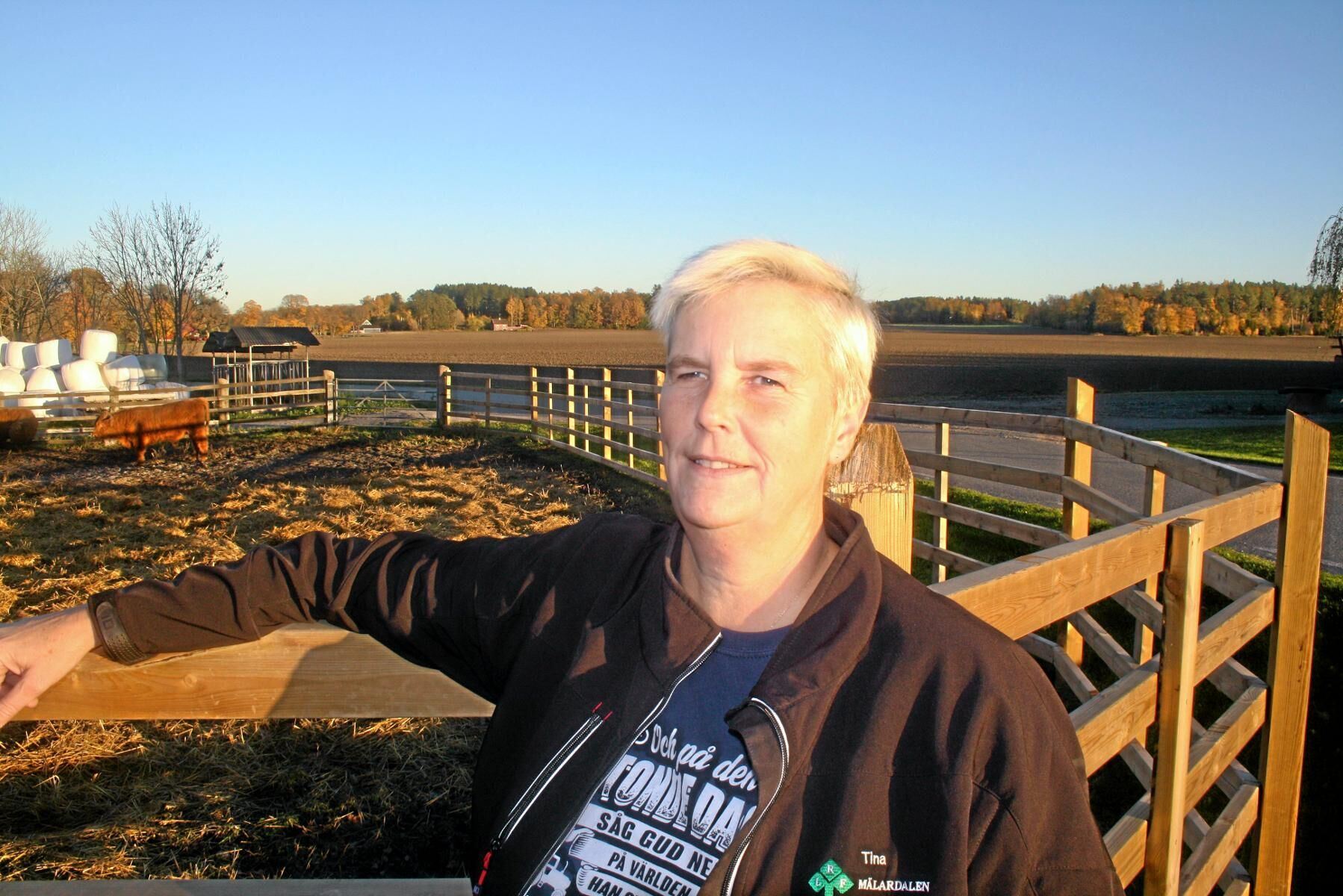 Tina Rudolphson driver Bjelkesta gård utanför Uppsala.