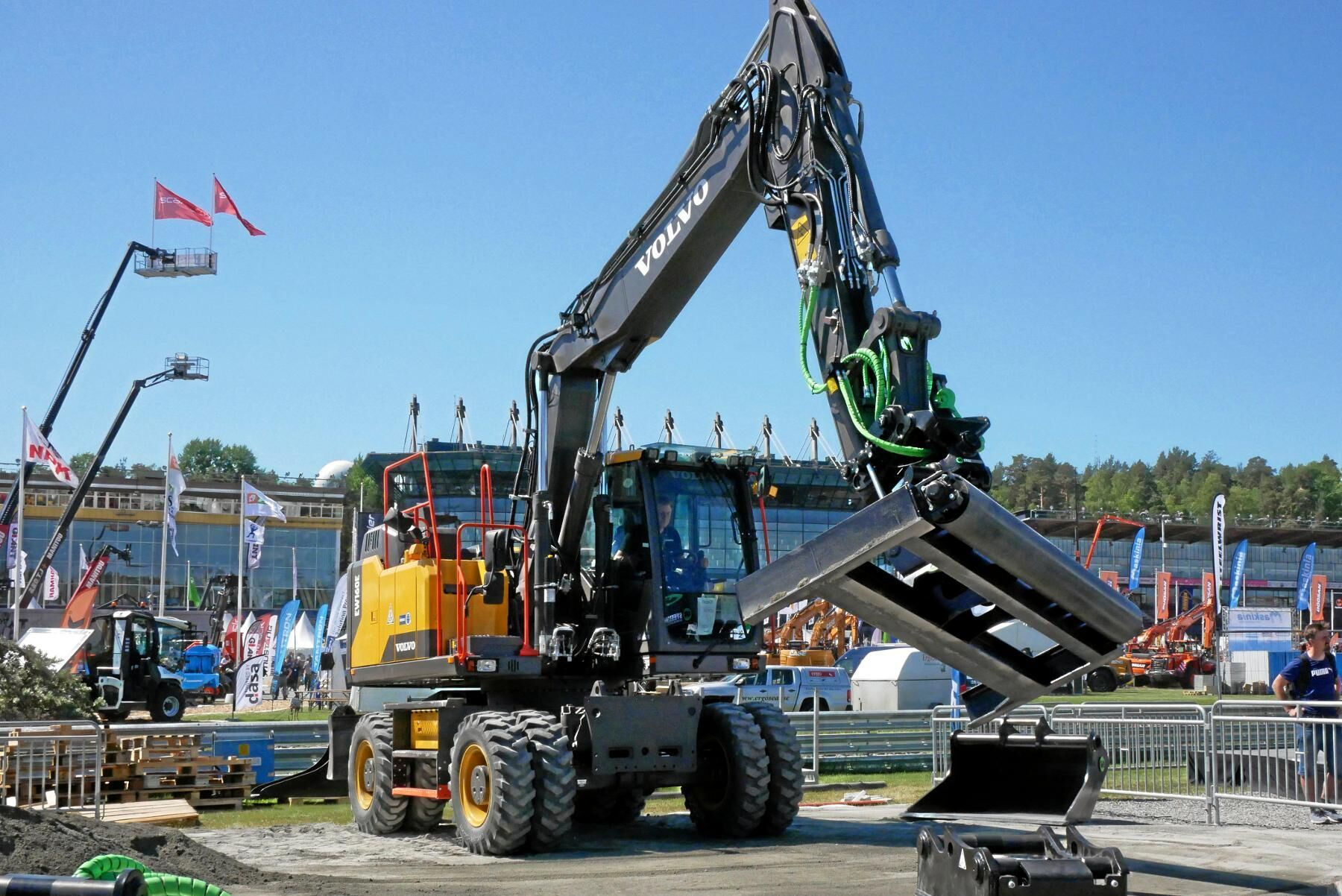 Volvos hjulgrävare EW160E.