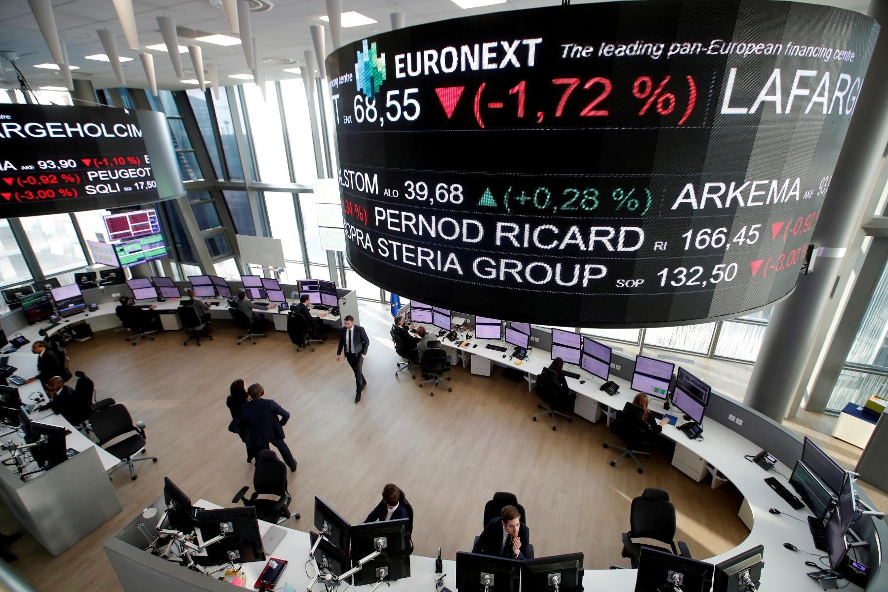 Euronextbörsen i Paris.