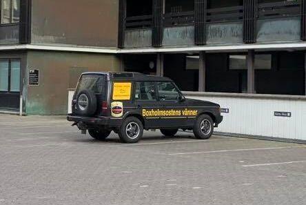 Den så kallade ostbilen som används när Boxholmsostens vänner rycker ut.