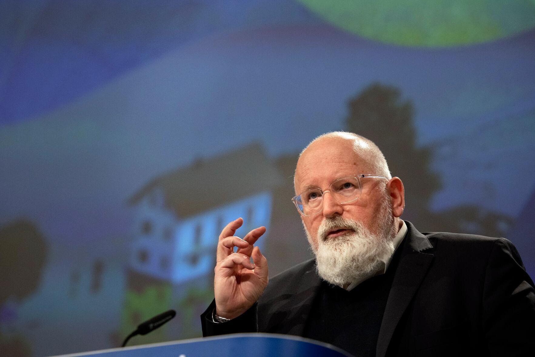 EU-kommissionär Frans Timmermans ansvarar för klimatfrågorna i EU-kommissionen.