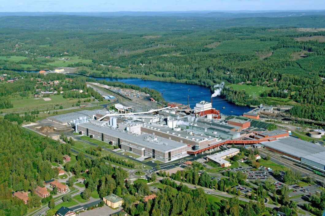 Kvarnsvedens pappersbruk i Borlänge.