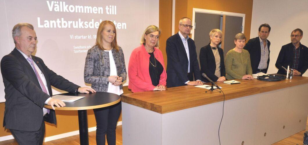 Många lovord från debattörerna i Skövde om livsmedelsstrategin som presenterades i dag.