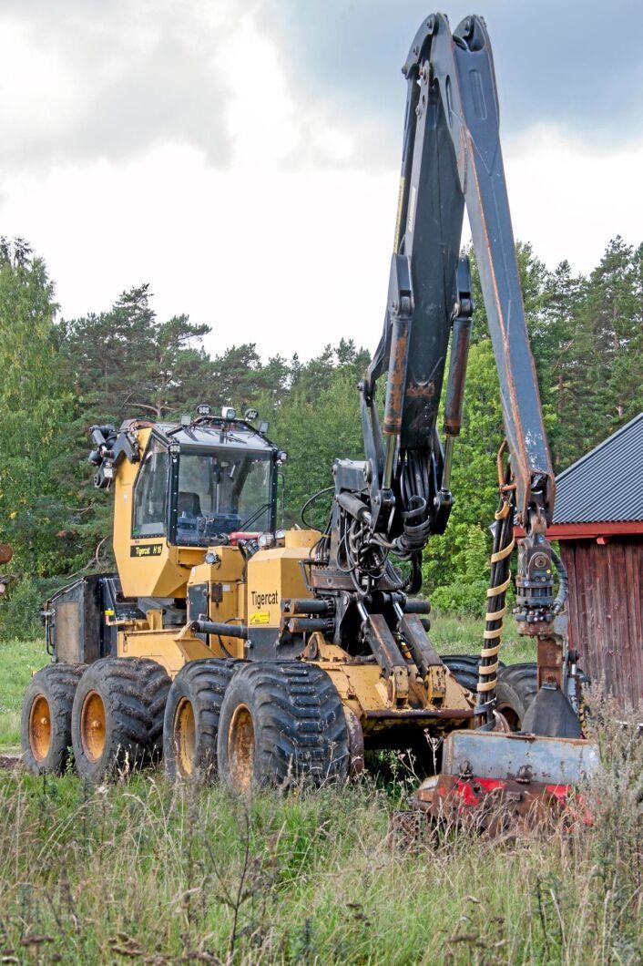 Reservdelsmaskinen Tigercat H16 skördare.