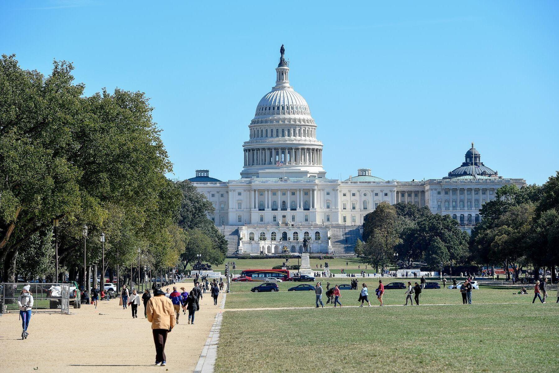 Representanthuset och Senaten, som tillsammans utgör Kongressen, håller till på Capitolium i Washington D.C.