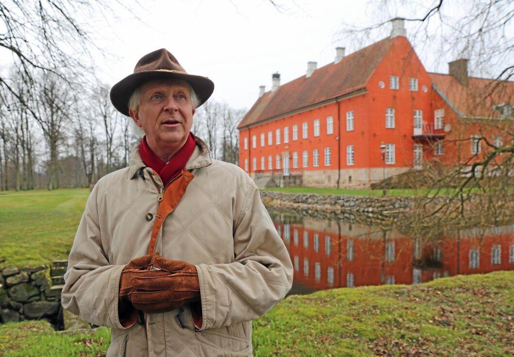 """""""Det som inte är lämpat att plantera kommer vi inte att plantera. En del, 100 eller 200 hektar, kanske blir permanent jordbruksmark om det ligger så till att det passar för en lokal bonde som vill utöka"""", säger Gustaf Ramel, på Hviderups Gods."""