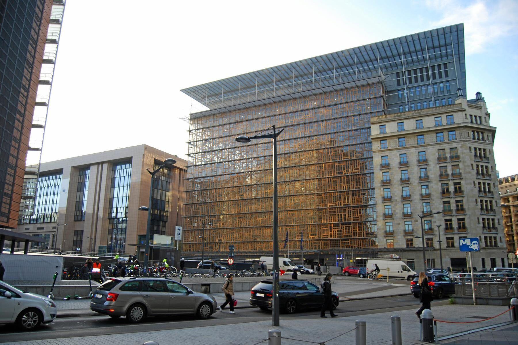 EU:s jordbruksministrar lämnar efter två dygn i Europa-huset i Bryssel utan en överenskommelse om Cap. Arkivbild.
