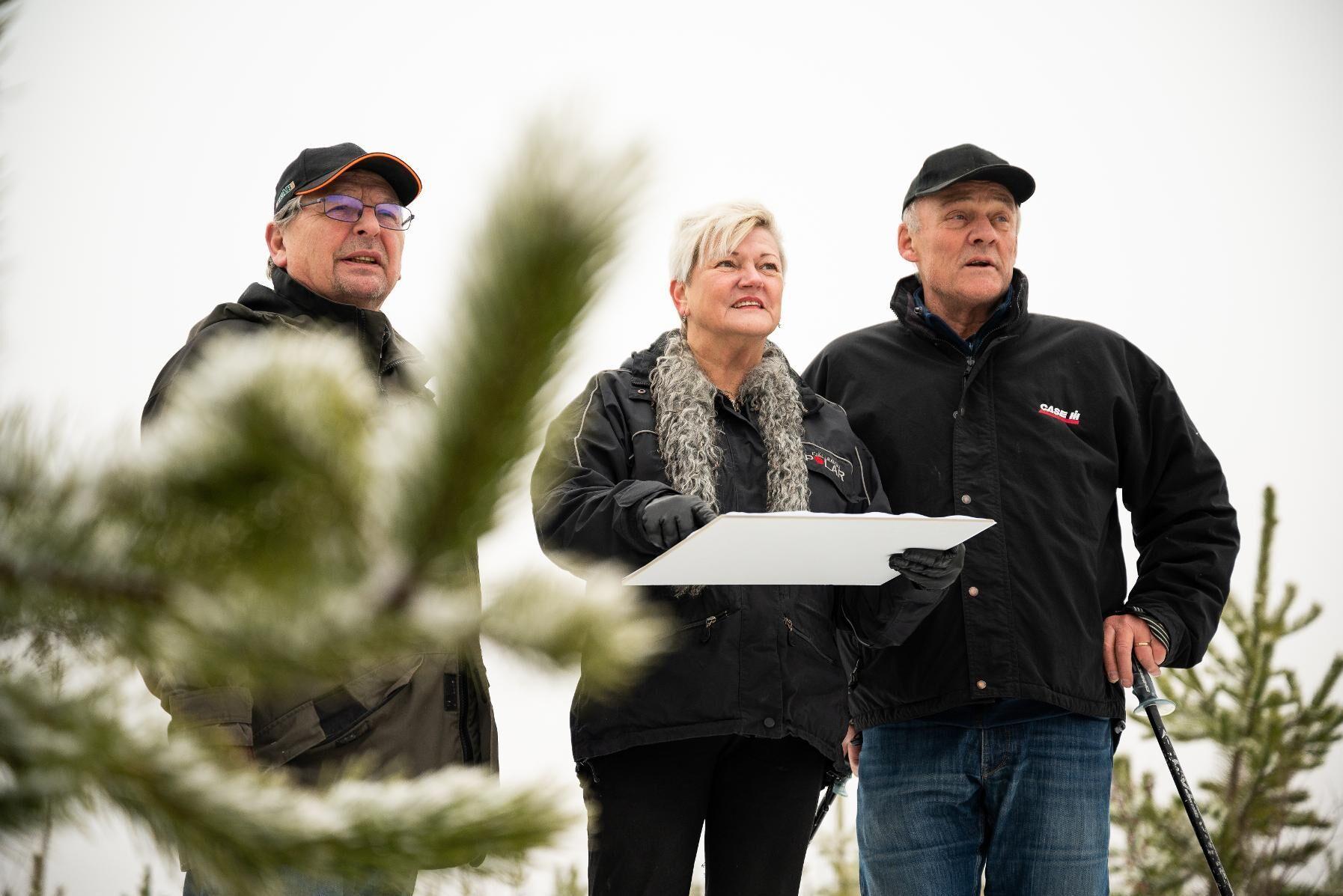 Jan Söderström, Christina Rylander Bergqvist och Bengt Bergqvist ingick i styrgruppen för Klevvind i Ånge.
