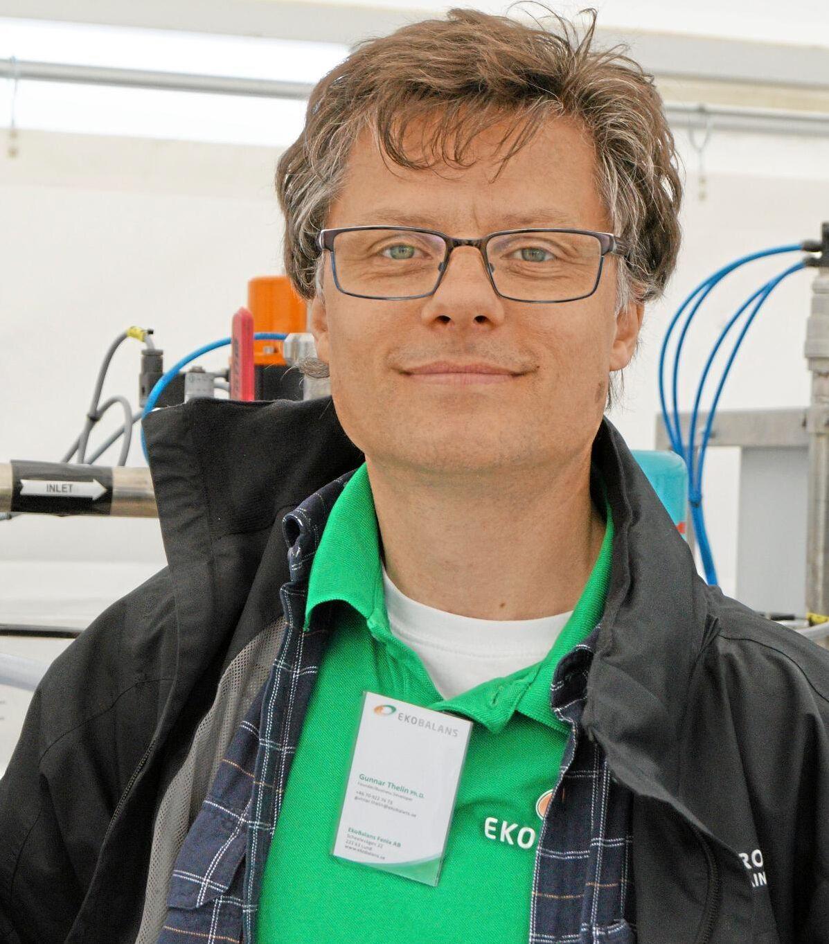 Gunnar Thelin, grundade Ekobalans Fenix. I dag har han en mindre ägarandel, bolaget finansieras av riskkapital.