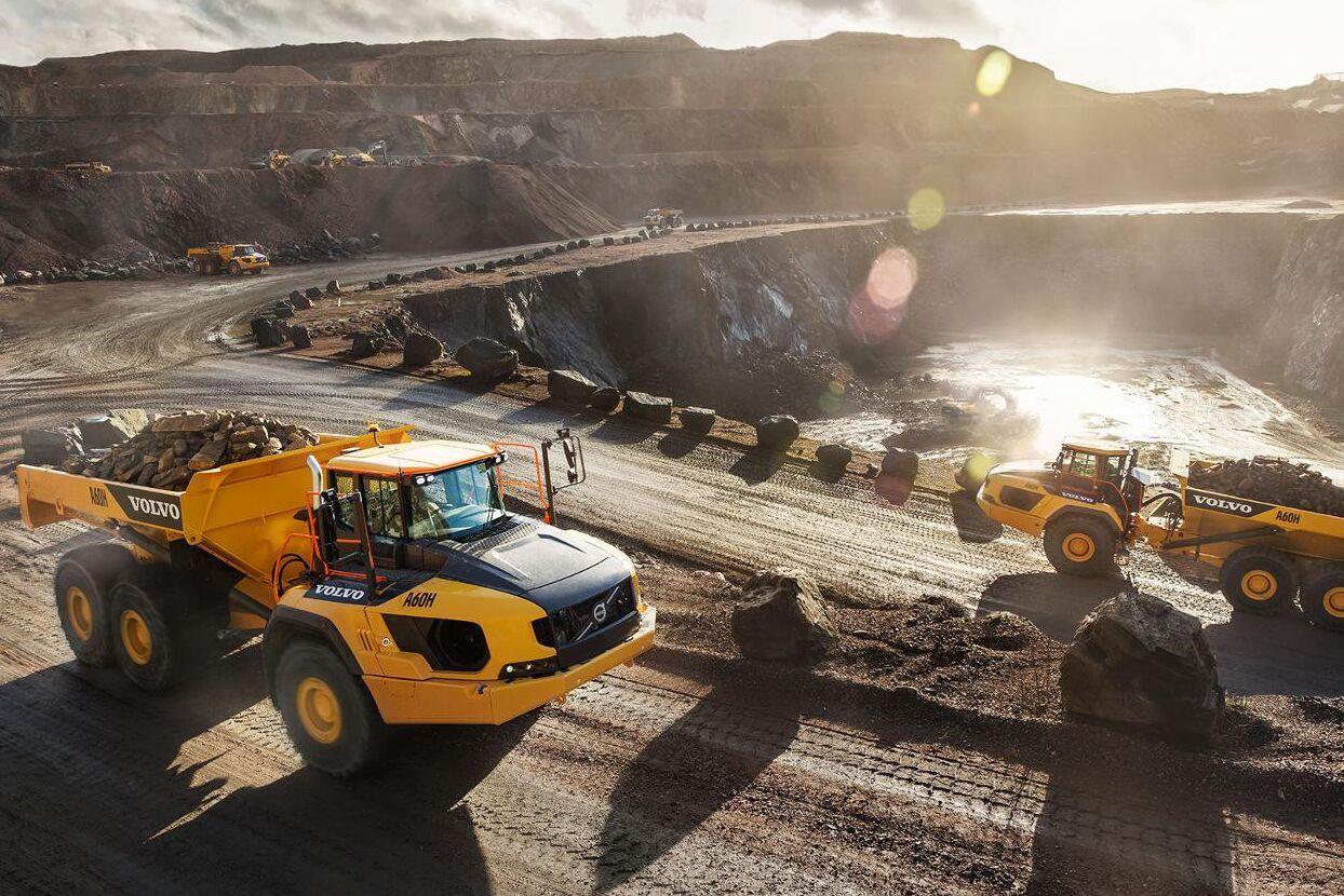 Volvos tunga dumprar kanske finns med vätgasdrift som alternativ från 2025.