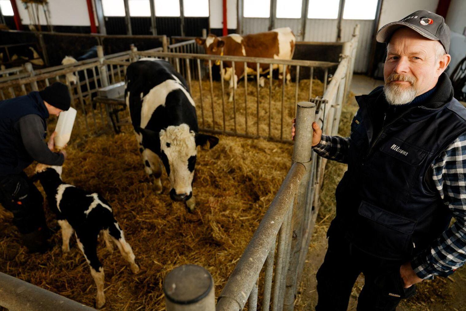 Anders Nilsson, Skråmered Våxtorp i Halland tilldelas utmärkelsen Årets Mjölkföretagare.
