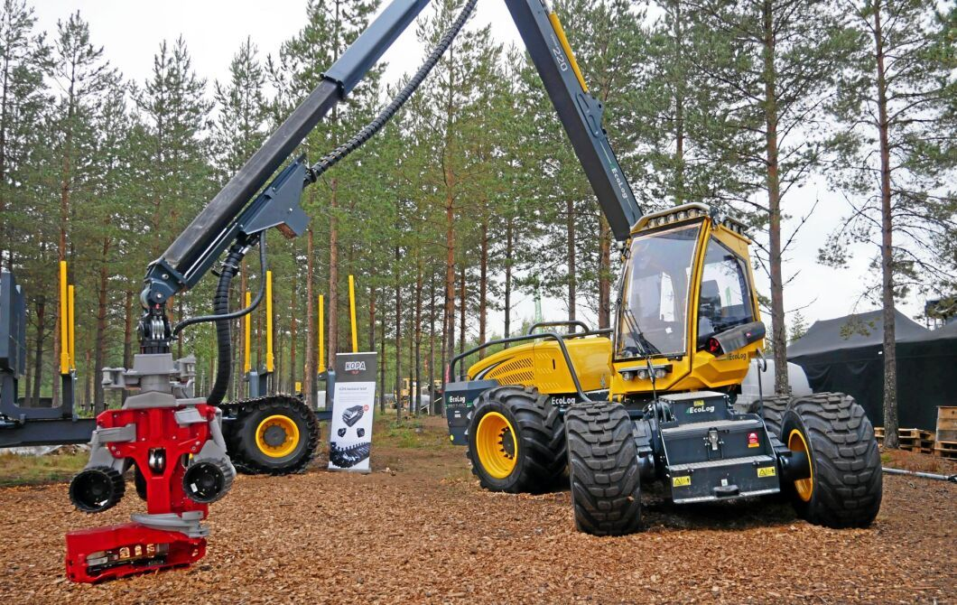 EcoLog har tagit fram en ny, 6-hjulig skördare, 550 T-Pro, thinning professional.