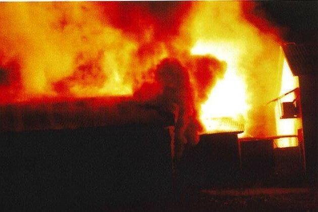 En av männen filmade branden på minkfarmen. Arkivbild.