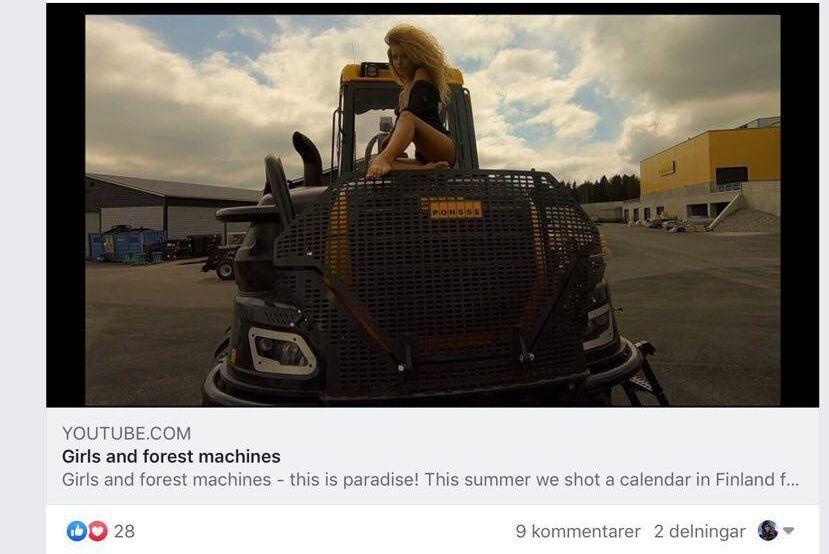 På Youtube har det funnits ett klipp som det tyska företaget lagt upp. Enligt beskrivningen är det filmat hos Ponsse i Finland.