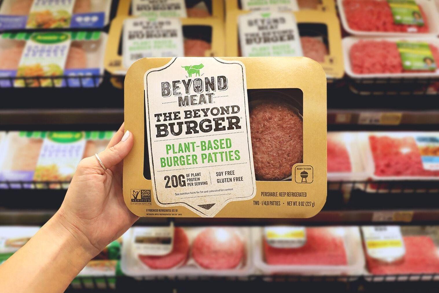Beyond Meats växtbaserade hamburgare finns att köpa i en rad livsmedelskedjor.