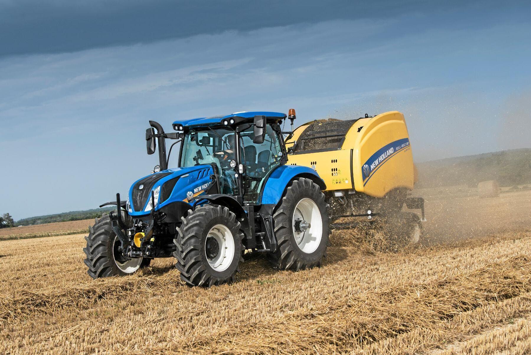 New Holland hade en bra september med totalt 46 stycken registrerade traktorer. På bilden är en New Holland T6.175 DC.