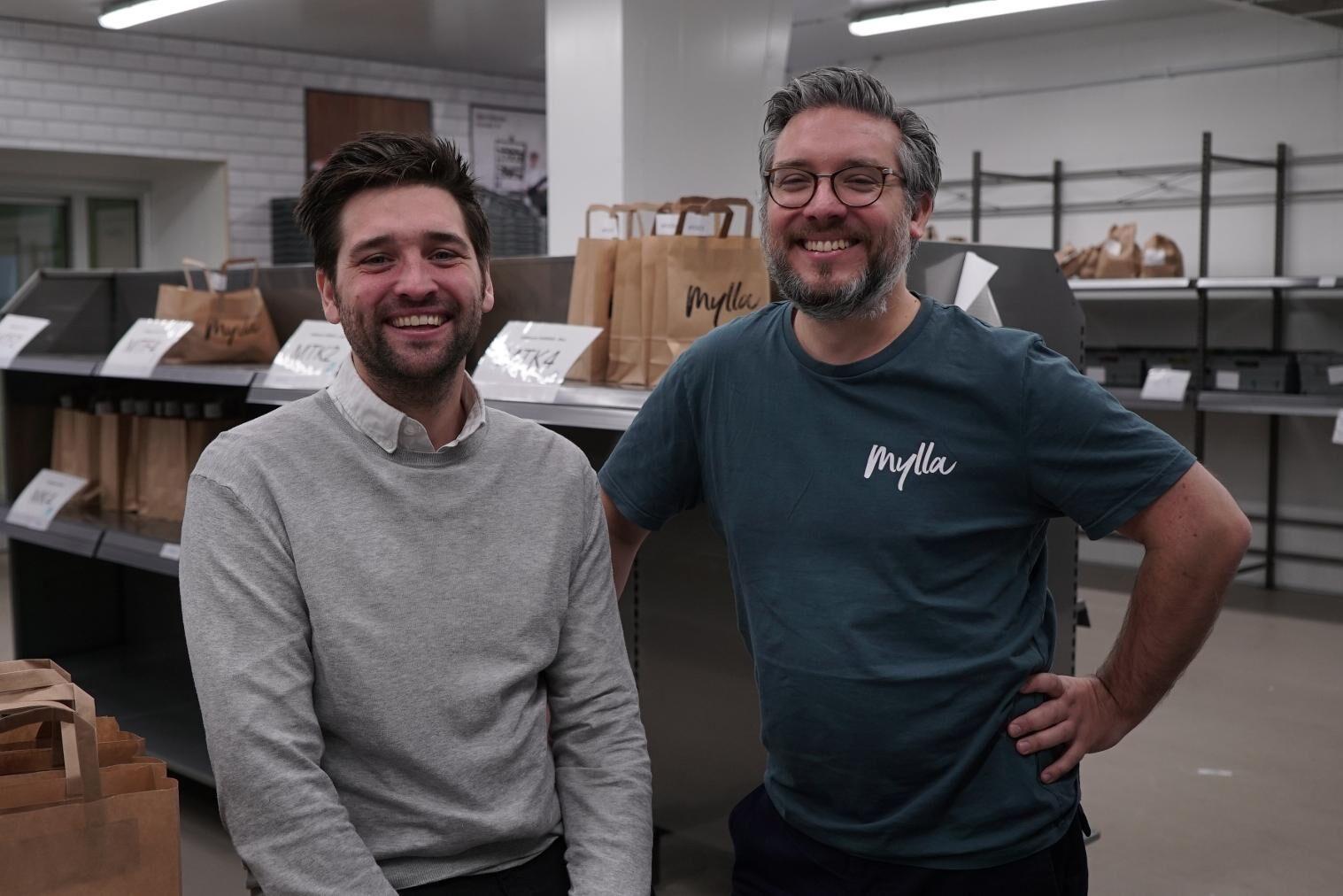 Jens Thulin och Rikard Sandahl driver Mylla Mat.